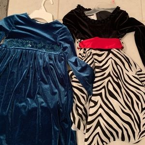 Other - Girls size 5 long sleeve two holiday dresses